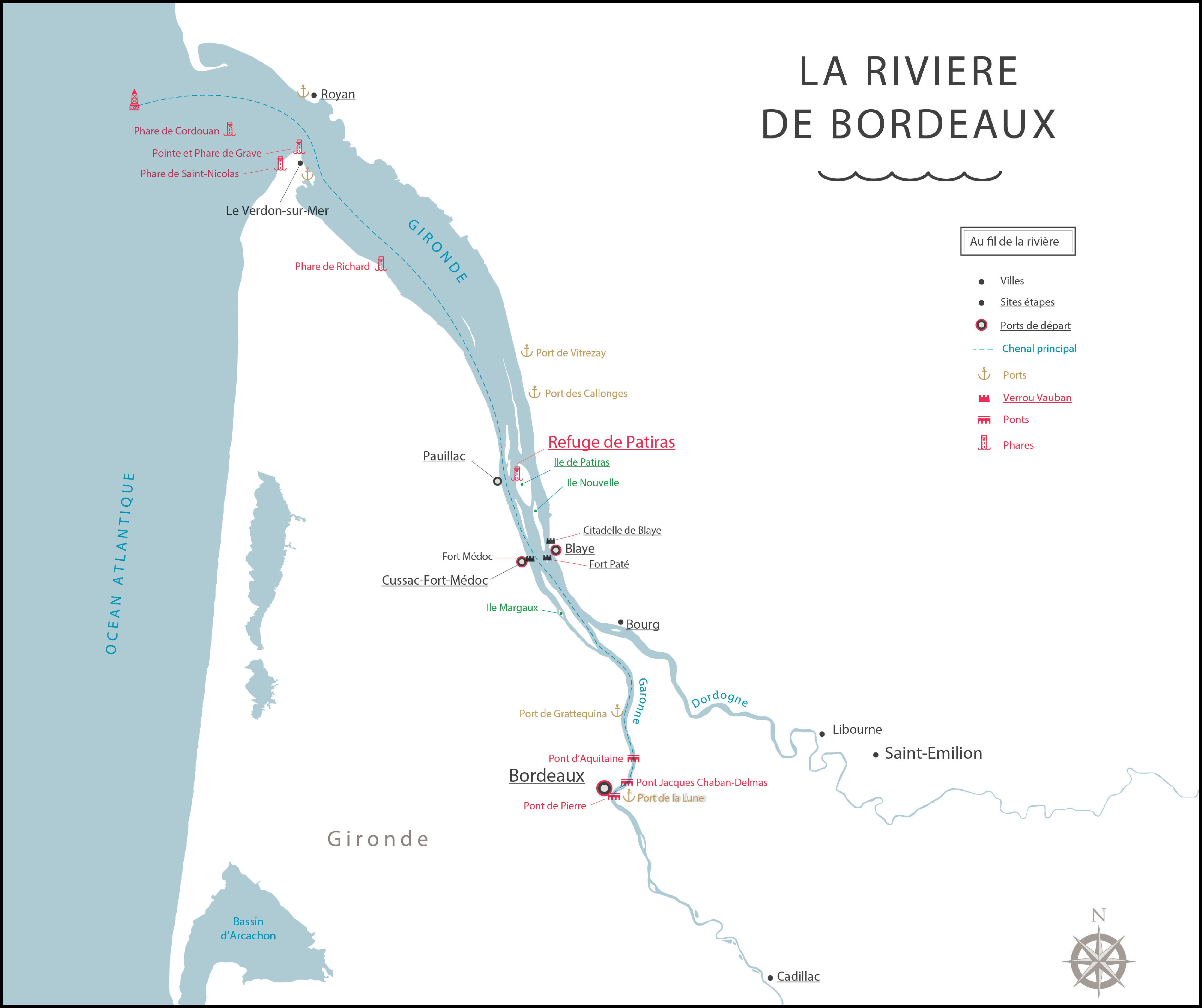 Carte Bordeaux River Cruise - Séminaires Bordeaux